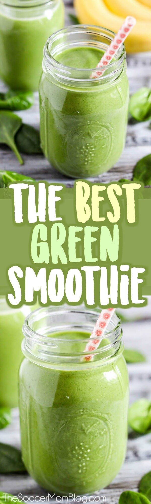 Green, good-for-you, AND tastes amazing?! Seriously, this is the BEST green protein smoothie ever! Forget those slimy-looking drinks you USED to choke down in the name of health...this healthy green smoothie is absolutely delicious!! #protein #glutenfree #dairyfree #smoothie via @https://www.pinterest.com/soccermomblog