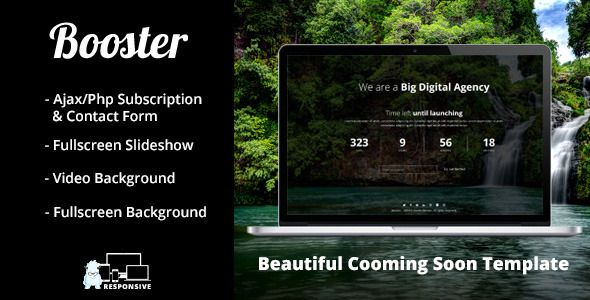 Booster - Responsive Coming Soon Template