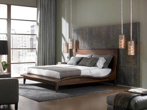 Schlafzimmer Einrichtung-modernes Design-Ideen Beleuchtung-Deckenlampen Hängeleuchte