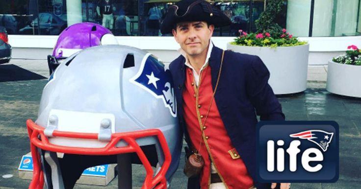 Joey McIntyre rocks End Zone Militia attire on 'Radio Row' | New England Patriots
