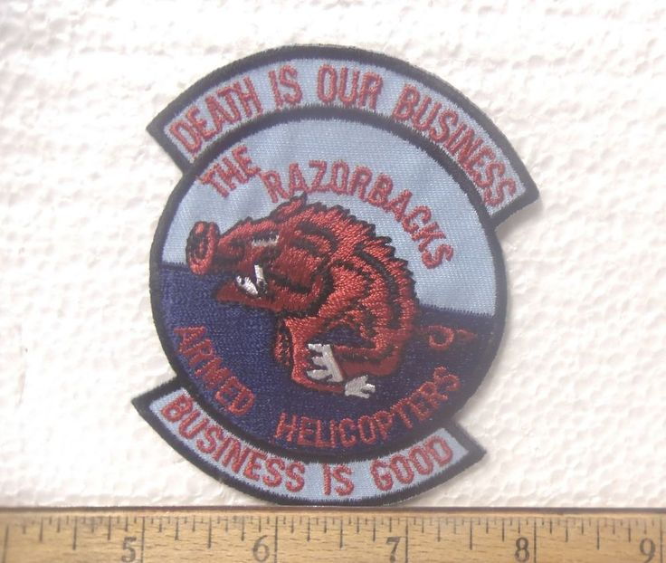 US Army - The Razorbacks - Armed Helicopters Embroidered Patch