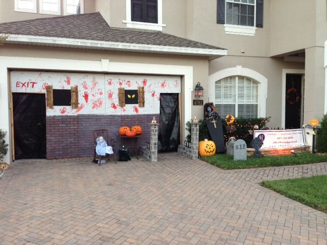 Front of the haunted garage