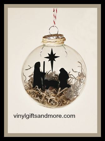 Floating Ornaments - Nativity Manger - Vinyl and Floater Only