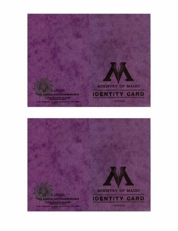 -comment faire une carte d'identité du ministère de la magie