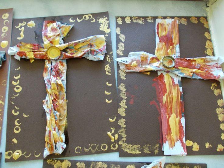 1ο Νηπιαγωγείο Ωραιοκάστρου: Πασχαλινά καλαθάκια και σταυροί.