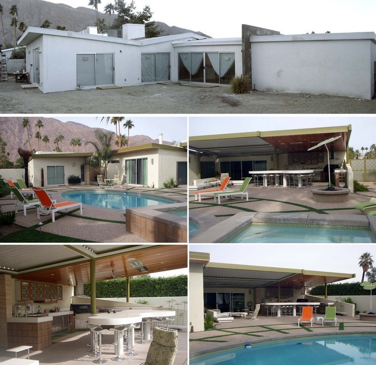 Spotlight On Palm Springs Style Outdoor Areas: 87 Best Images About Midcentury Transformations On