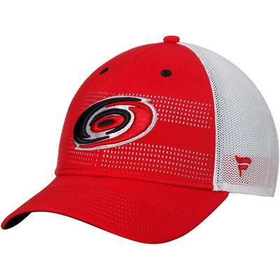 Men's Carolina Hurricanes Fanatics Branded Red/White Iconic Grid Trucker Adjustable Hat
