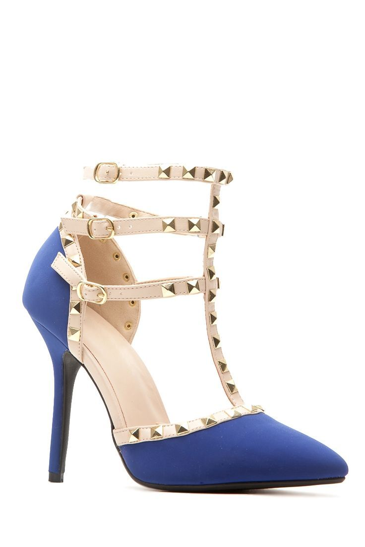 Women's Fashion High Heels :    Royal Blue Faux Nubuck Studded Pointed Toe Single Sole Heels @ Cicihot Heel Shoes online store sales:Stiletto Heel Shoes,High Heel Pumps,Womens High Heel Shoes,Prom Shoes,Summer Shoes,Spring Shoes,Spool Heel,Womens Dress Shoes  - #HighHeels https://youfashion.net/shoes/high-heels/trendy-womens-high-heels-royal-blue-faux-nubuck-studded-pointed-toe-single-sole-heels-cicihot-heel-shoe/