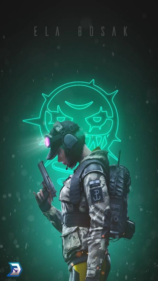 Ela Bosak Rainbow 6 Phone Wallpaper By Blackoutarts On Deviantart In 2020 Rainbow Six Siege Art Rainbow Wallpaper Iphone Rainbow Art
