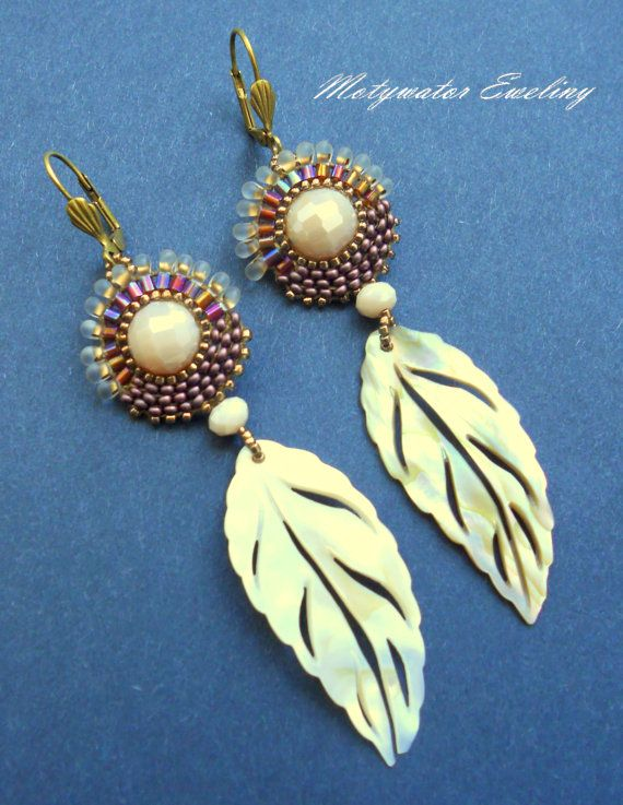 Indian Summer Earrings with Shell Openwork