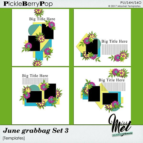 June Grabbag Set 3 by MissMel Templates https://www.pickleberrypop.com/shop/product.php?productid=51737&page=1