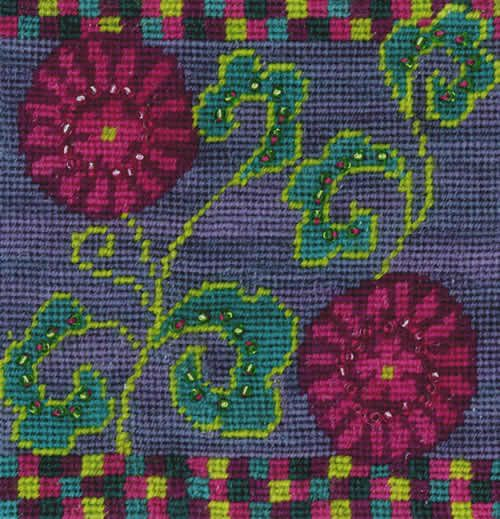 Napoli Flowers - beaded needlepoint