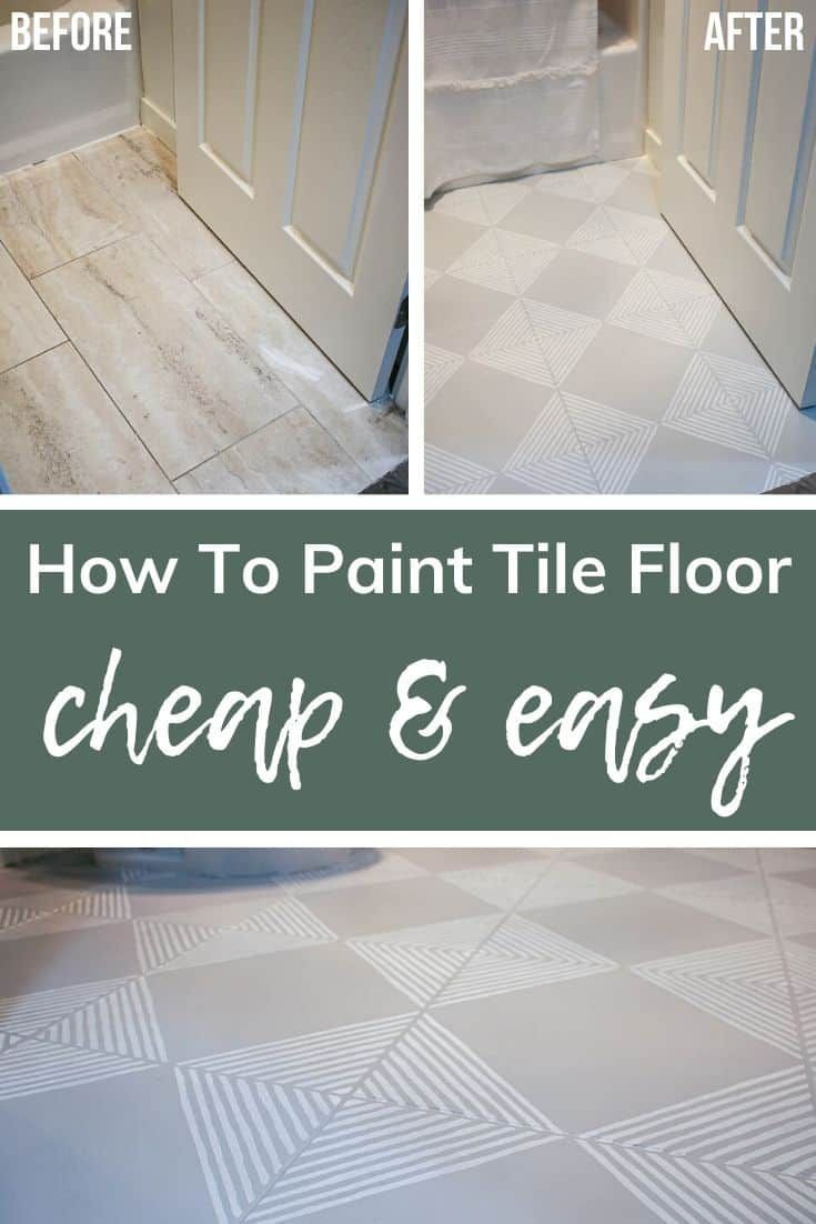 How To Paint Tile Floor With Stenciling Tile Floor Painting Tile Floors Painting Tile