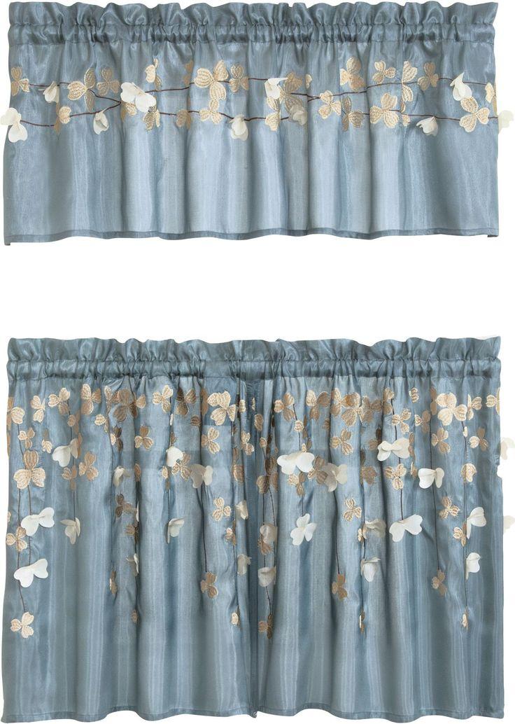 Flower \ Kitchen Tier Curtain