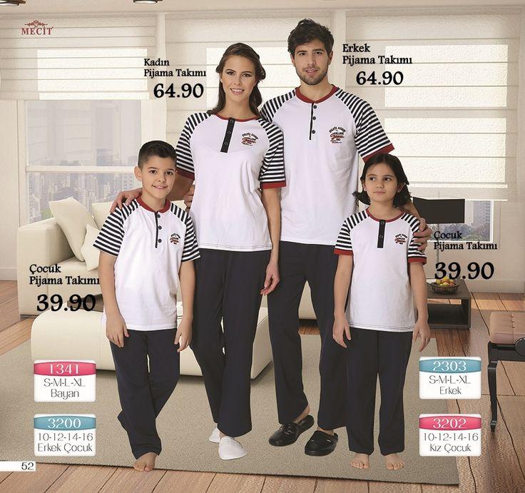 Aile Pijama Takımı #annekiz #babaogul #pijamatakimi #ailepijama