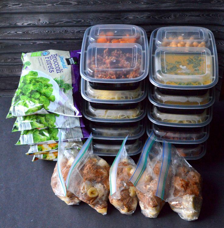 Vegan advance meal prep - 5 Days for $23 - Pasta, Rice, Veggies | Rich Bitch Cooking Blog