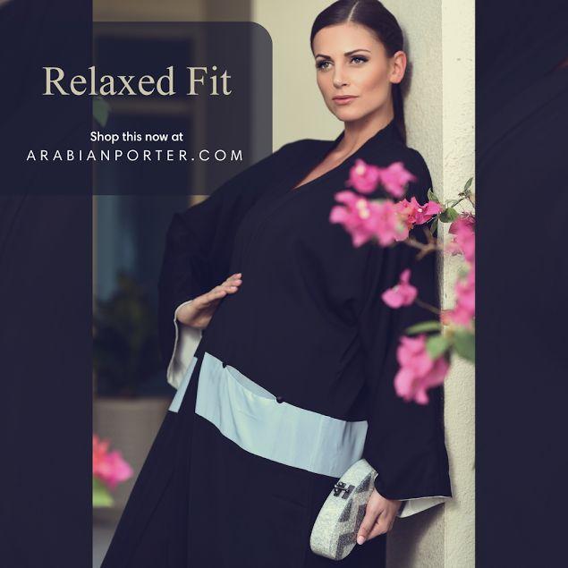 #Black #abaya with #elegant pocket cuts #fufidesign #luxury #fashion #Arabianporter #online #shop #worldwide #shipping  #doha #qatar #dubai #sharjah #riyadh #muscat #kuwait #oman #Saudi .Shop this now at https://arabianporter.com/abaya/day-abaya/fufi.html