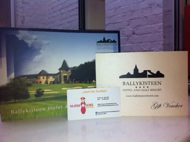 Ballykisteen Hotel and Golf Resort are one of Nurse Jobs Irelands proud sponsors! We received a two night B voucher for one lucky nurses to win at our Event on May 10th for more info see http://www.nursejobsireland.com/news-and-info