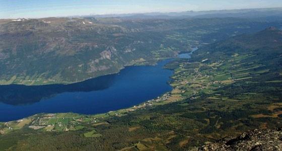 Utsikt fra Grindafjell over vangsmjøsa