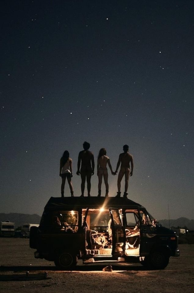 This would be cool to do with friends...just drive out somewhere and hang out under the stars.