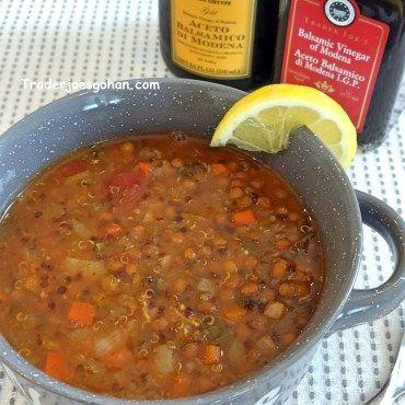 トレジョの食材で レンズ豆 レンティルとキヌアのスープ Smoky Lentil & Quinoa Soup | #トレジョ #レンズ豆 #レンティル #キヌア #スープ  #Lentil  #Quinoa #Soup #traderjoes #トレーダージョーズ