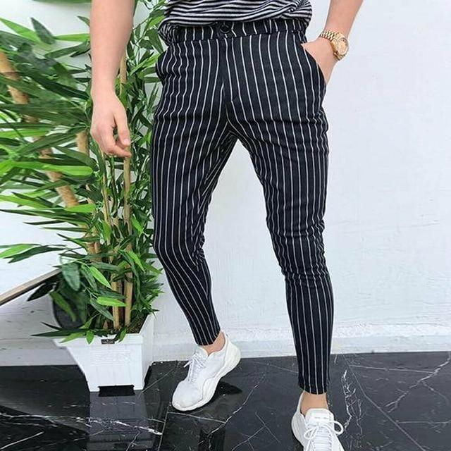 Pant Style: Pencil PantsOrigin: CN(Origin)Length: Full LengthFront Style: FlatFit Type: SkinnyMaterial: CottonItem Type: Full LengthThickness: MidweightGender: MENFabric Type: BroadclothDecoration: PocketsStyle: CasualWaist Type: MIDModel Number: Pants Formal Pants, Casual Pants, Men Casual, Slim Fit Pants, Skinny Pants, Mens Sweatpants, Workout Pants, Sport, Men Pants