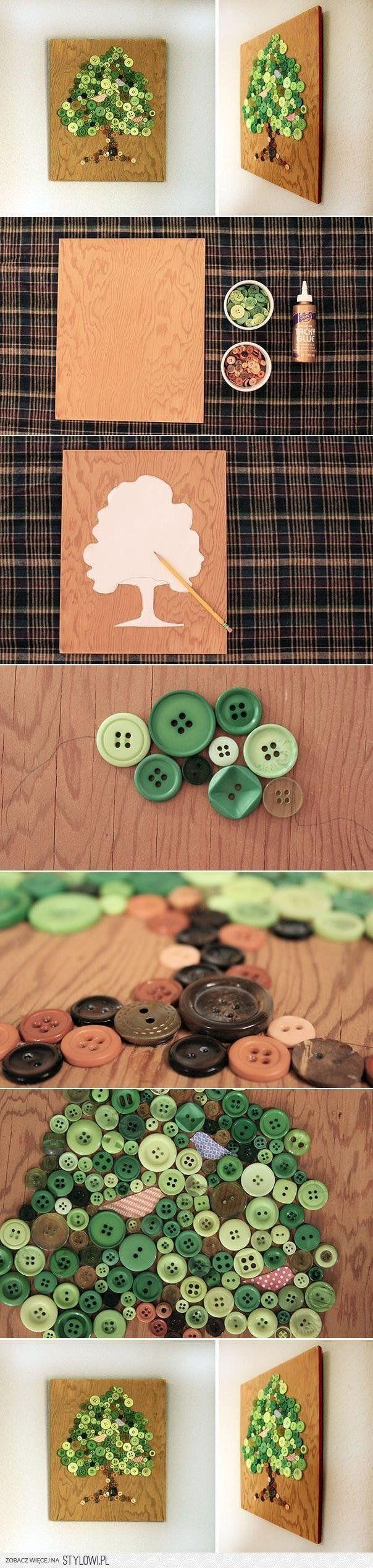obraz z guzików