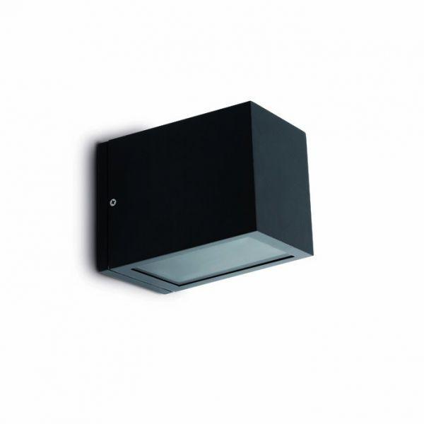 Applique ext rieur cube faro gris clair ou gris fonc for Cube luminaire exterieur