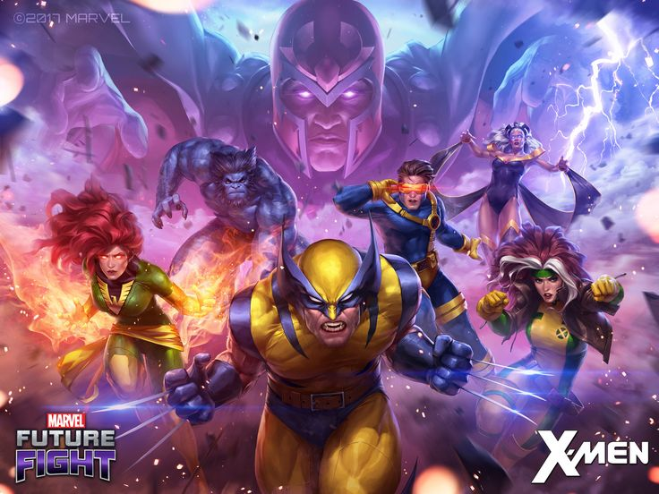 ArtStation - Marvel Future Fight Key-Art Illustration for v3.1.0 X-men, JeeHyung lee