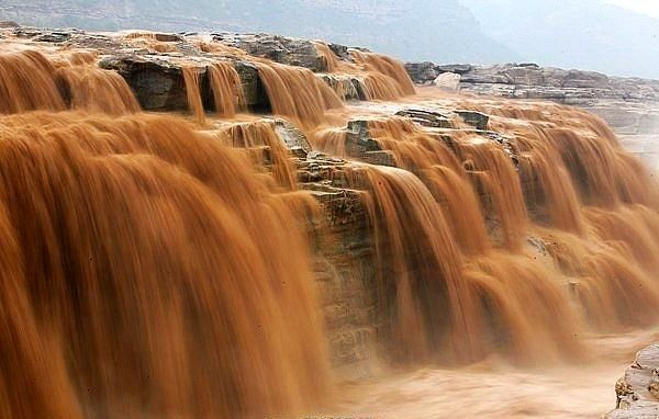 Hukou Waterfall at the  Yellow River in Shanxi, China http://www.haveheartdaily.com/index.html