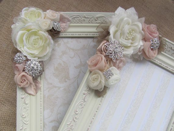 Romantic Shabby Chic Picture Frame by GrandNichols on Etsy, $42.00