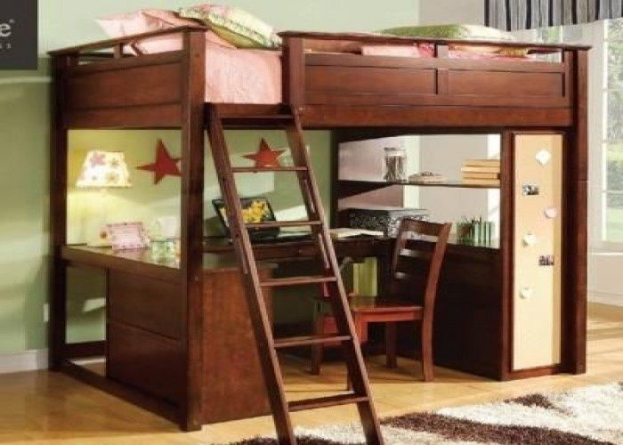15 Full Size Loft Bed With Desk Plans Digital Photo