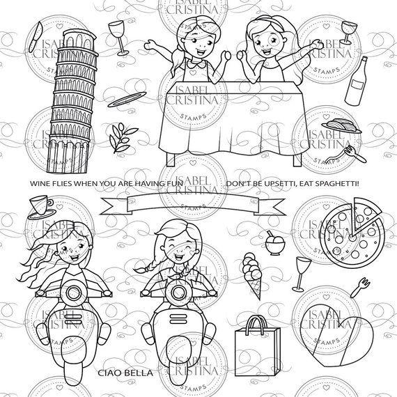 Bella Italia Isabelcristinastamps Digital Stamps Digitale Stempels