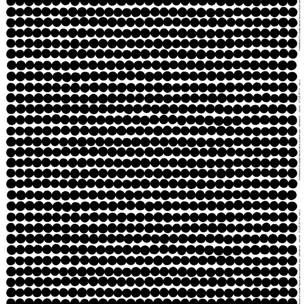 Räsymatto fabric, black, by Marimekko.