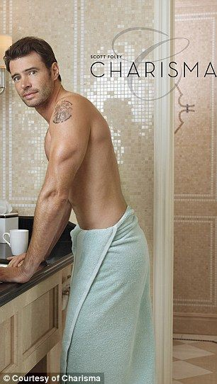 Scandalous! Olivia Pope's undercover lover poses in a series of sexy bare-chested shots... as actor Scott Foley lands ad series