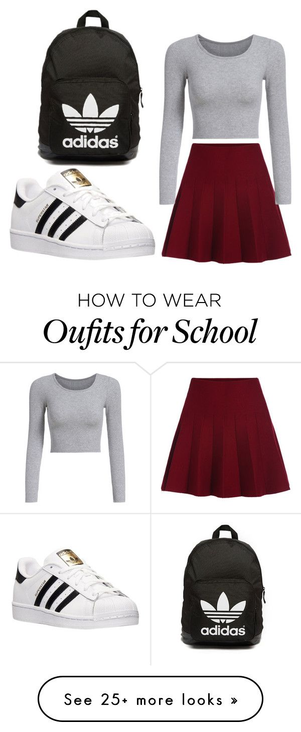 """school"" by ebazete on Polyvore featuring adidas and adidas Originals"