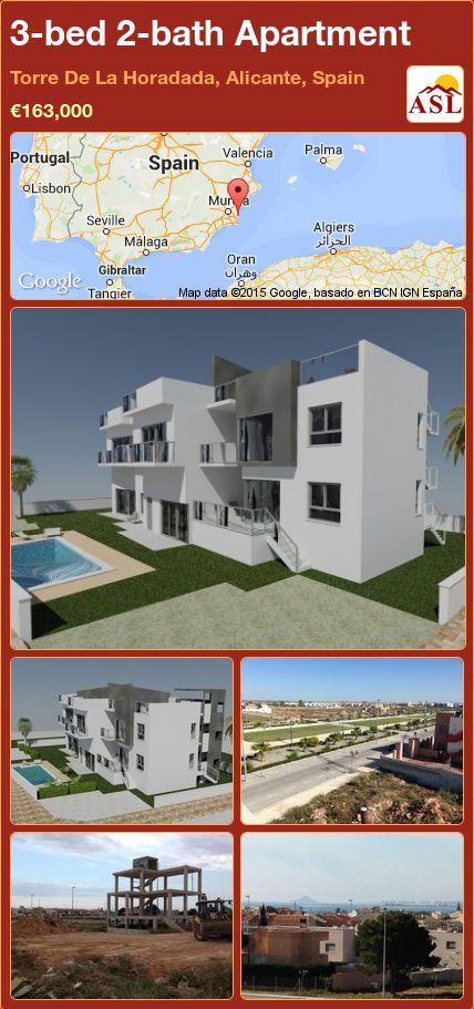3-bed 2-bath Apartment in Torre De La Horadada, Alicante, Spain ►€163,000 #PropertyForSaleInSpain