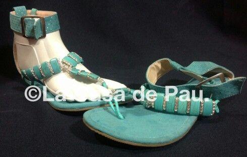 Sandalias decoradas con cristal