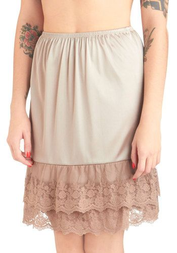 Excellent lace slip under skirts and dresses. Adds a vintage charm to any outfit.
