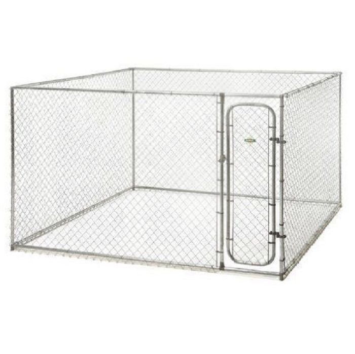 Xxl Dog Kennel Outdoor Petsafe Box Fence Galvanized steel Cage 10 x 10 x 6 #729849119253