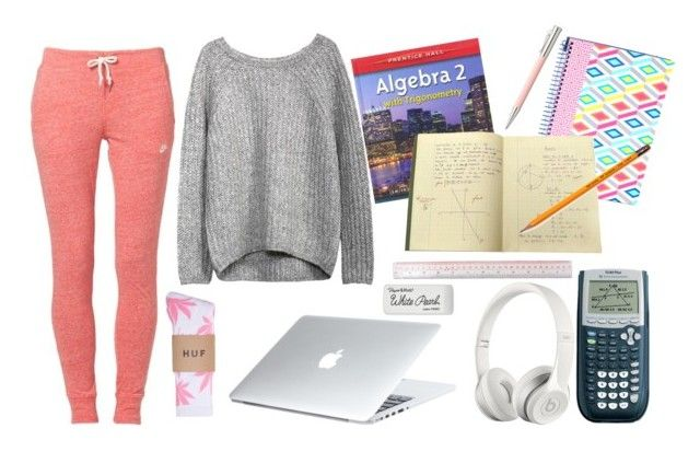 """""""Doing My Math Homework"""" by marsophie ❤ liked on Polyvore featuring Beats by Dr. Dre, Faber-Castell, Paper Mate, BP. Undercover and HUF"""