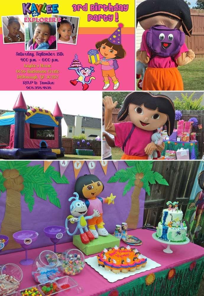 Dora The Explorer Birthday Party Ideas In 2019 Jakara