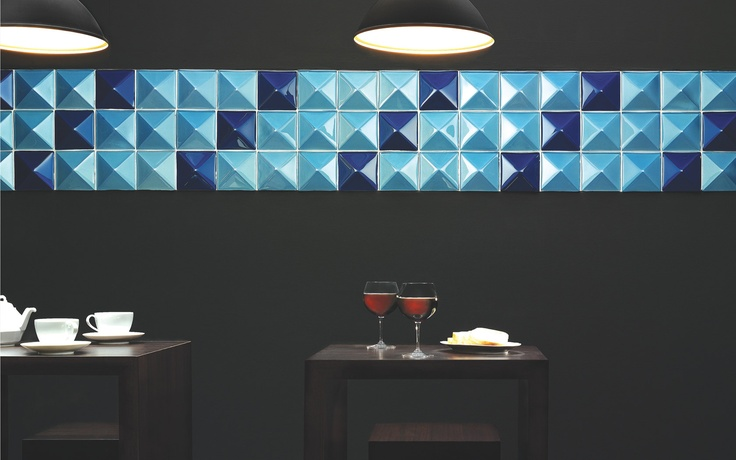 Collection brennero skema solution piramide matrix these art deco inspired tiles create for Deco lounge bar restaurant