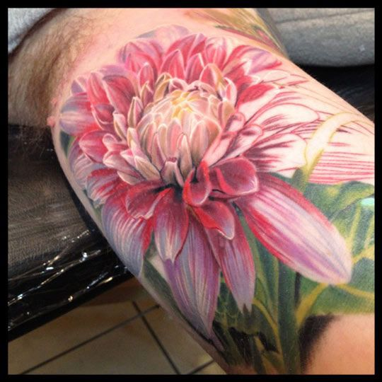 32 Best No Line Flower Tattoo Images On Pinterest: Best 25+ Realistic Flower Tattoo Ideas On Pinterest