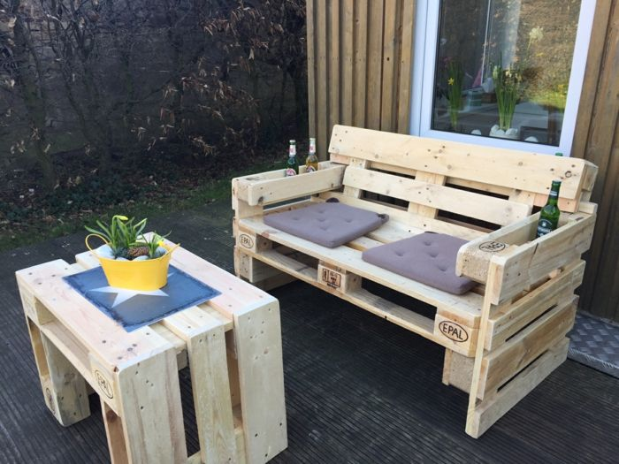 idée diy banc palette | meubles astucieux | Banc en palette ...