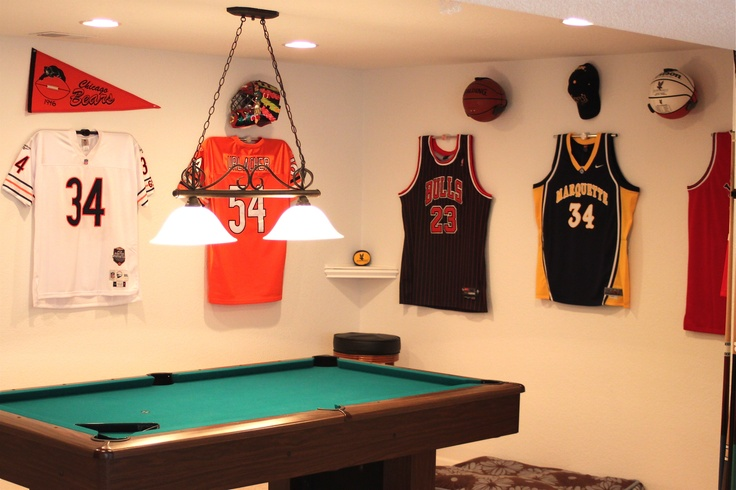 Man Cave Store New Jersey : Best images about sports jersey display on pinterest