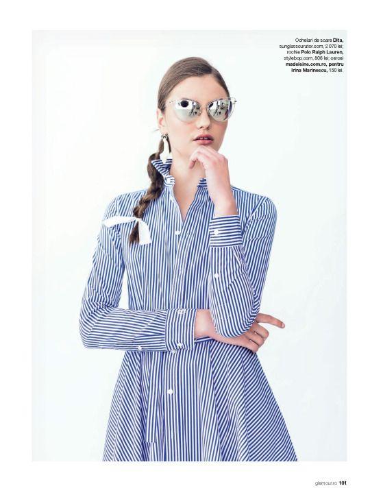 AHOY SAILOR: #DitaEyewear 'Heartbreaker' frames spotted in Glamour Magazine Romania // June 2016