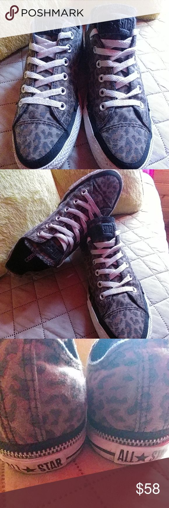 Men's sz 9 1/2 Brown Camo CONVERSE ALL STAR shoes. Men's sz 9 1/2 Brown Camo type pattern CONVERSE ALL STAR shoes. These shoes have a zipper all around the bottom of each shoe. Any questions please feel free to contact me. Converse Shoes Athletic Shoes
