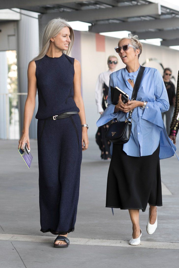 Après New York et Londres, les Fashionistas Ont Débarqué à Milan Jour 3 Sarah Harris (gauche)
