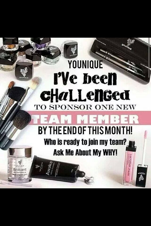 I've been challenged ladies! Who wants to join my team and challenge someone else?! Amazing opportunities, this business is growing so fast, why not get in early https://www.youniqueproducts.com/Oshieldstiffany/
